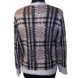🆕Westbound Plaid Blk, Pink & Gray Sweater PL NWOT
